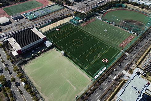 甲南大学六甲アイランドキャンパスラグビー場兼サッカー場